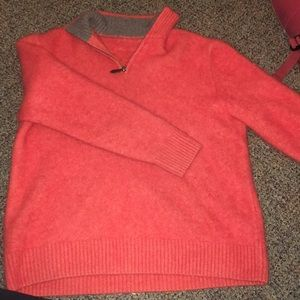 Sweaters - Cashmere Quarter Zip Size Large